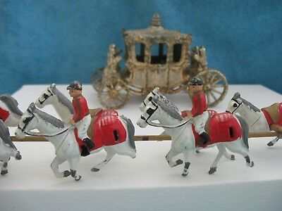vintage 1950s ? die cast model ROYAL HORSE DRAWN GOLDEN CARRIAGE England af