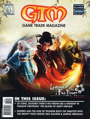Game Trade Magazine #211 September 2017 WIZKIDS Legend of the Five Rings GTM
