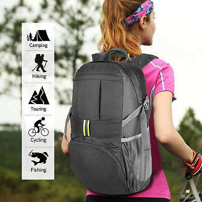 New Ultra-Slim Lightweight High Capacity Outdoor Sport Backpack Laptop Bag Black