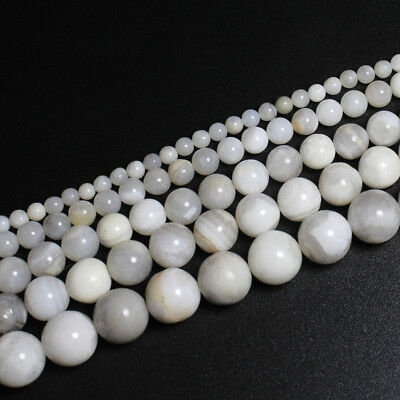 Wholesale White Agate Stone Stripe Natural Stone Loose Beads Jewelry Bracelet