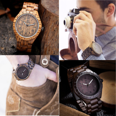 UWood Noble Casual Man'S Wristwatch SandalWood Quartz Watch Natural Wooden Watch