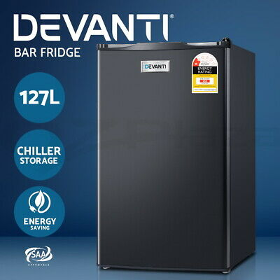 Devanti 127L Bar Fridge Freezer Refrigerator Mini Portable Wine Cooler Drinks
