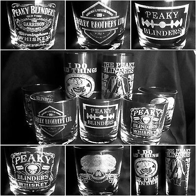 PEAKY BLINDERS Engraved choice of glass and design, personalised christmas gift