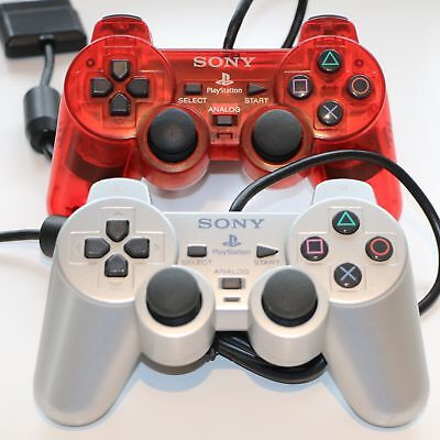 Official Sony Ps2 Playstation 2 Dualshock Controller Pad Control - Scph-10010
