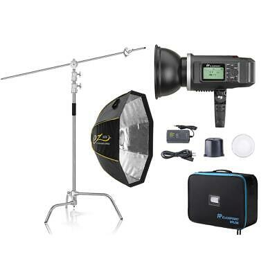 "Flashpoint XPLOR 600 HSS R2 Monolight Kit With C-Stand and EZ Lock 36"" OctaBox"