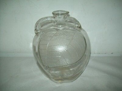 "vintage Whitehouse Vinegar apple shaped  10"" Gallon glass Jug spout bottle"