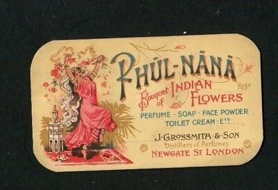 """Perfume Card """"PHUL-NANA """" by Grossmith,In Aid of Funds  for Childrens Outing."""