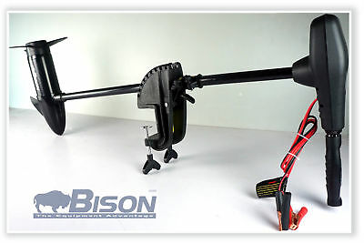 BISON 40'/lb SALT WATER ELECTRIC OUTBOARD MOTOR + BATTERY CHARGER