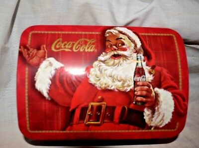 Estate Coca Cola Metal Collectable Christmas Tin for Display-Use Clean Inside