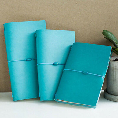 PU Leather Traveler's Notebook Notepad Diary Gift Simple Memo Pad Guest Book CB