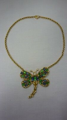 großes Christian Dior Collier / Kette Libelle Top Zustand