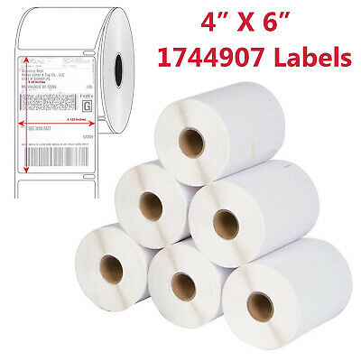 2 to 20 Rolls 220 Thermal Shipping Labels 4x6 1744907 Compatible For  DYMO 4XL