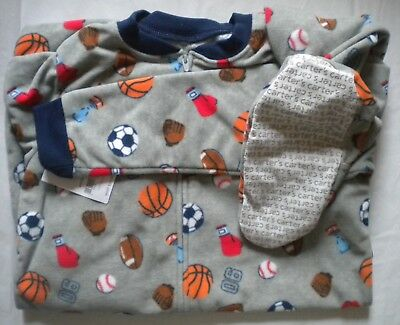 1a2b2f4cb NWT CARTERS BOYS Size 12 Fleece Footed Feety Feet Pajamas Dump Truck ...