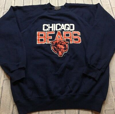 80s VTG CHICAGO BEARS RAGLAN SOFT L Sweatshirt Old School Logo Monsters  Midway abaa5fc04