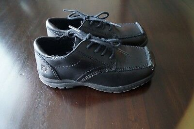 Kenneth Cole Reaction Boys Black Dress Oxford Shoes Sz 10 M Laces Blank Check 2