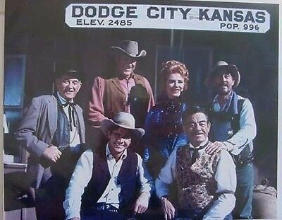 RE STILL JAMES Arness Tv's Gunsmoke In Color Cast Photo Dodge City