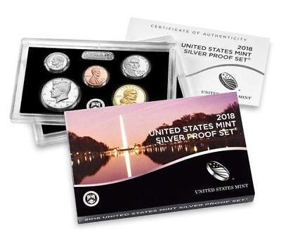 2018-S Silver Proof Coin Set-10 proof coins with Box and Coa