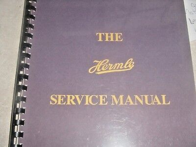 Hermle Service manual 1994 First Edition First Printing Excellentt conditon good