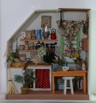 Custom Crafted Handmade Miniature Project Wooden Dolls House DIY Little Kitchen