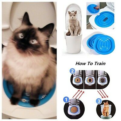 Cat Plastic Toilet Training Litter Kit Box Pet Cleaning Urinal System Supply