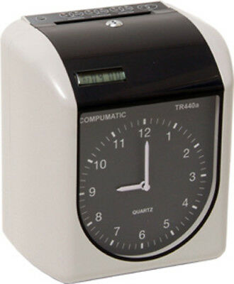 NEW COMPUMATIC TR440a HEAVY DUTY TIME CLOCK + 250 CARDS + 10 CARD RACK + RIBBON