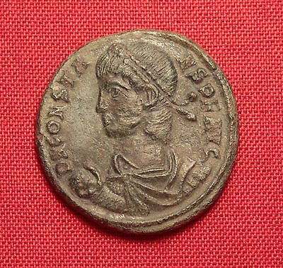 Ancient Roman Bronze Constans AE2 Coin, Follis