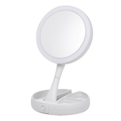 Double Sided Led Lighted Make Up 1x 10x Magnifying Mirror Batteries Ed D2w6