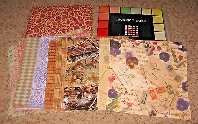 Lot Of Prnted Paper~~Scrapbooking~~Craft Paper~~3 Inches~Vgc