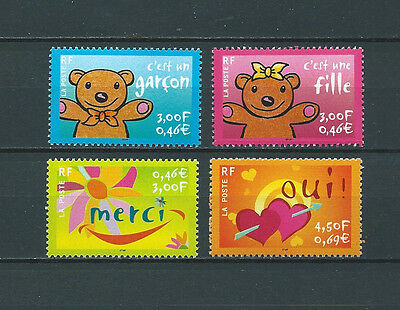 FRANCE  - 2001 YT 3377 à 3380 - TIMBRES NEUFS** LUXE