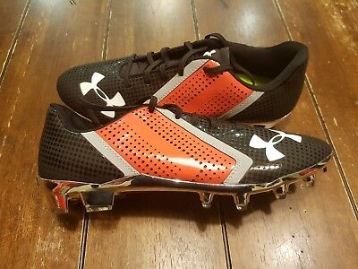 4603d1aa7ddf Under Armour Team Blur MC Football Cleats Men's Size 11.5 Black Red Silver  Low