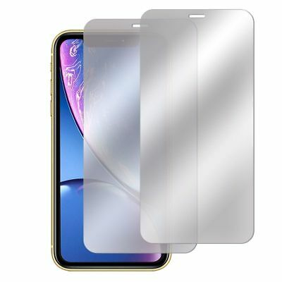 2 Pcs Set 9H Mirror Tempered Glass Screen Protector Film For Apple iPhone XR