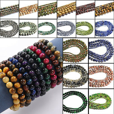 Wholesale Natural Gemstone Round Spacer Beads 4mm 6mm 8mm10mm DIY Jewelry Making
