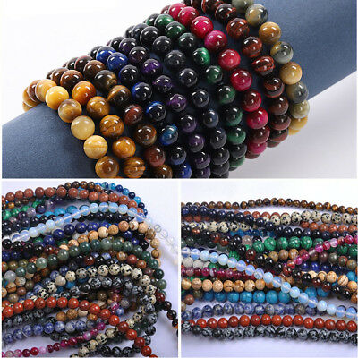 Wholesale Natural Gemstone Round Spacer Loose Beads For Bracelets Jewelry Making