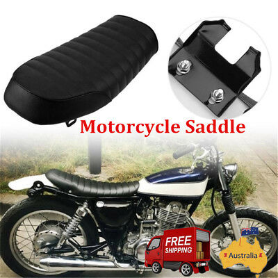 AU Vintage Black Hump Cafe Racer Seat Saddle Motorcycle Custom For Yamaha MA1491