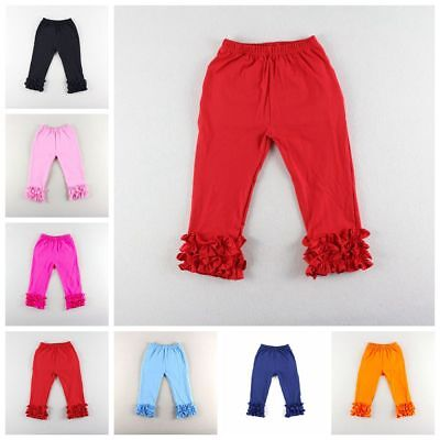 New Toddler Baby Girl Kid Autumn Icing Ruffle Cotton Pants Leggings Trousers Hot