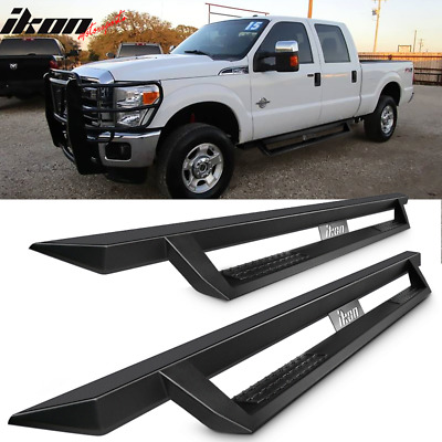 Fits 99-16 Ford F250 Superduty Crew Cab IKON V1 Style Running Boards Black