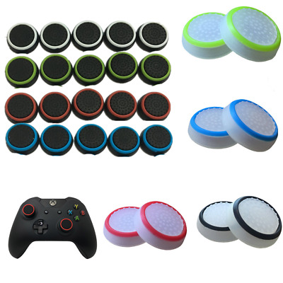 2pcs Thumb Stick Cover Grip Caps For 360, Xbox One, Sony PS4 + PS3 Controller UK