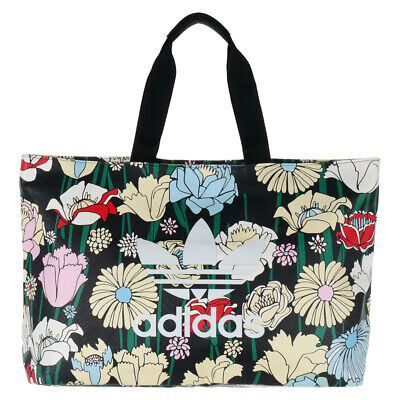69d45cd37a adidas Originals Women's Floral Print Tote Shopping Bag Trefoil Logo