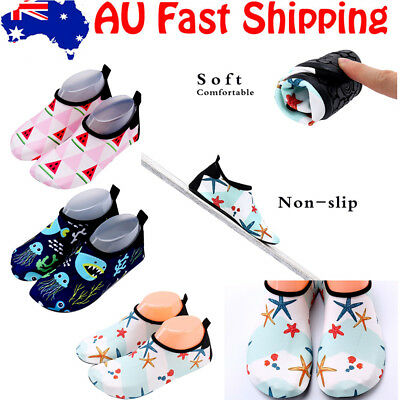 Kids Children Aqua Shoes Non-slip Quick Dry Beach Swim Pool Water Surf Shoes AU