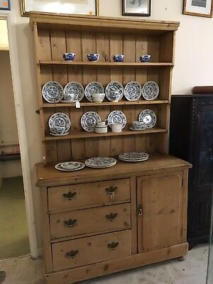 Victorian Pine 2 Part Cottage Dresser