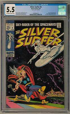 Silver Surfer #4 CGC 5.5 (OW-W) Classic Cover