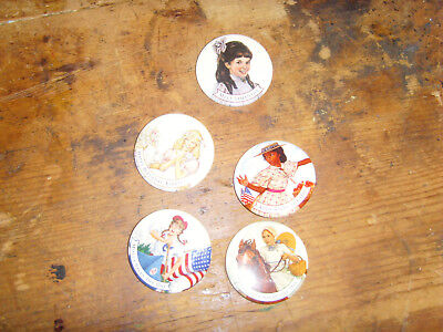Lot of older American Girl doll book theme button pins nice used condition Addy