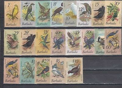 a120 - BARBADOS - SG622-638 MLH 1979 BIRD DEFINITIVES 21v FULL SET
