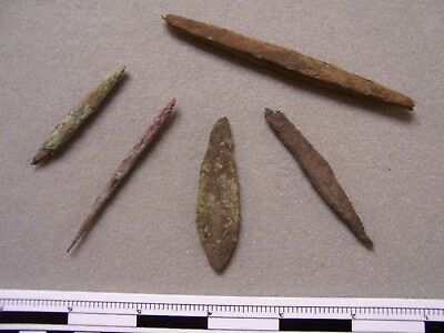 Five Authentic Old Copper Culture Artifacts From The Gordon Morris Collection