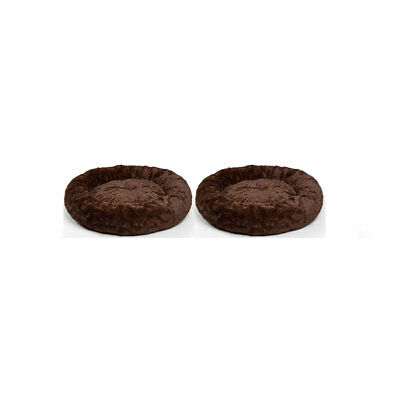 Best Friends by Sheri Orthopedic Relief Donut Cuddler Dog Bed, Brown (2 Pack)