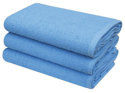Blue Terry Toweling Premium Quality Cotton Nappies 60 x 60 cm 12 Per Pack