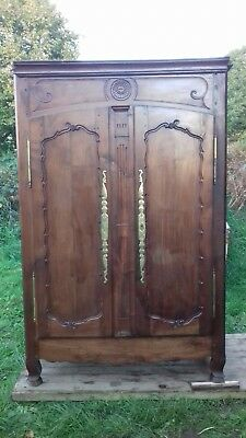 French Antique Early 19Thc Beautifully Patinated Armoire From Amiens As Found
