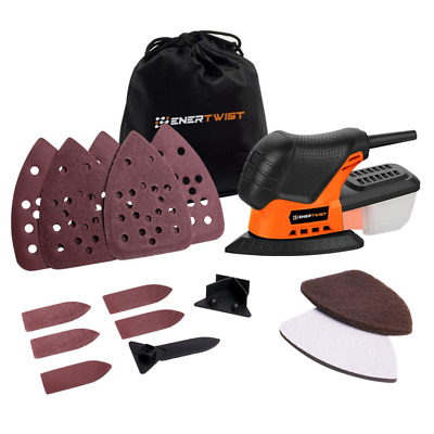 Mouse Detail Sander 13000OPM Lightweight Compact Sander with Dust Box for PC