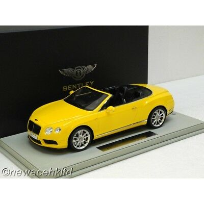 Bentley Continental Gt V8 S Convertible Monaco Yellow Bbr Model 1/18 #p1887Cv