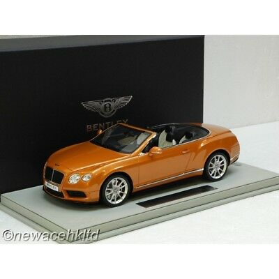 Bentley Continental Gt V8 S Convertible Monaco Yellow Bbr Model 1/18 #p1887Av